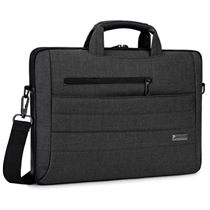8add4b376805 Brinch 17.3 Inch Multi-Functional Suit Fabric Portable Laptop Sleeve Case  Bag for Laptop, Tablet, MacBook, Notebook - Black