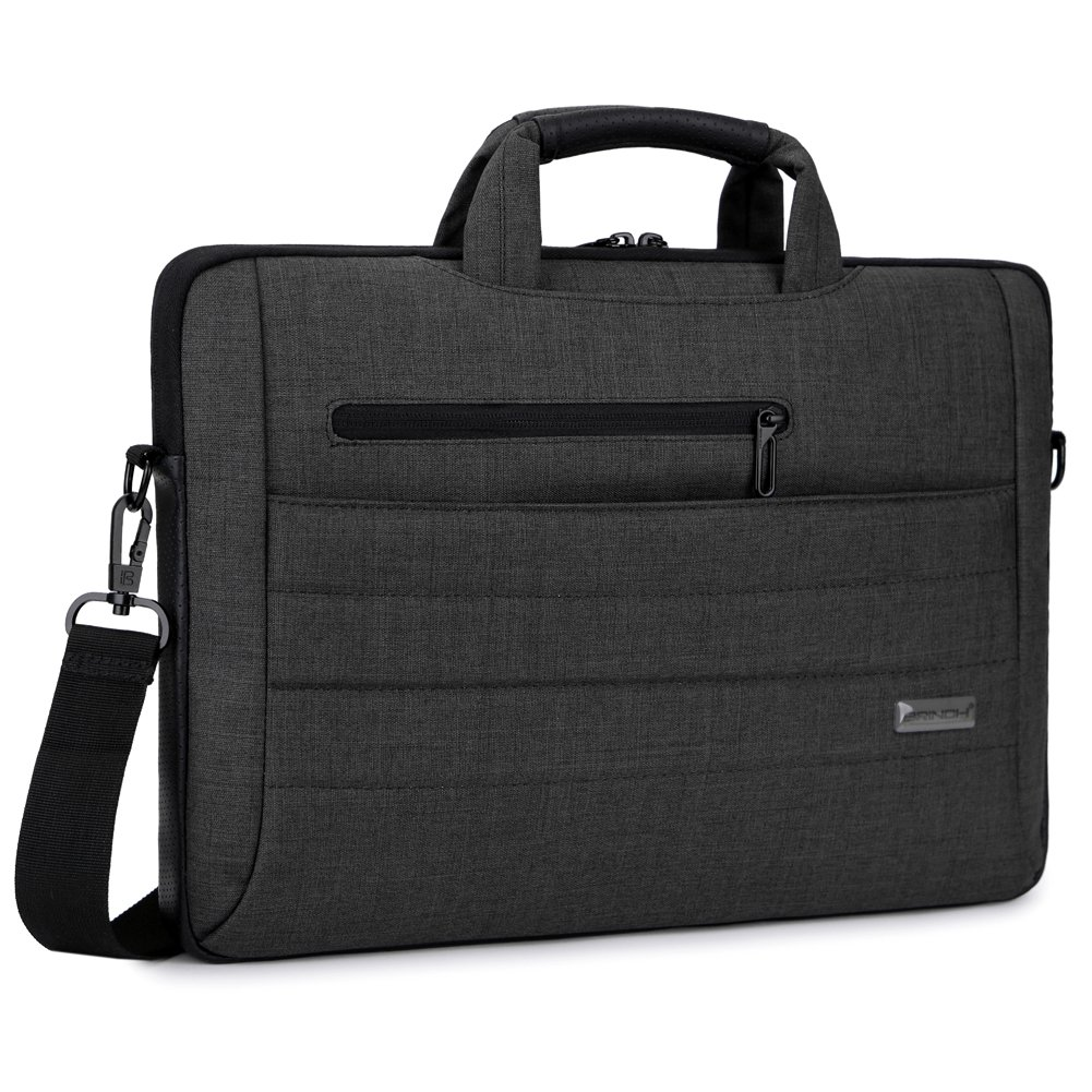 Brinch 17.3 Inch Multi-functional Suit Fabric Portable Laptop Sleeve Case Bag for Laptop, Tablet, Macbook, Notebook - Black