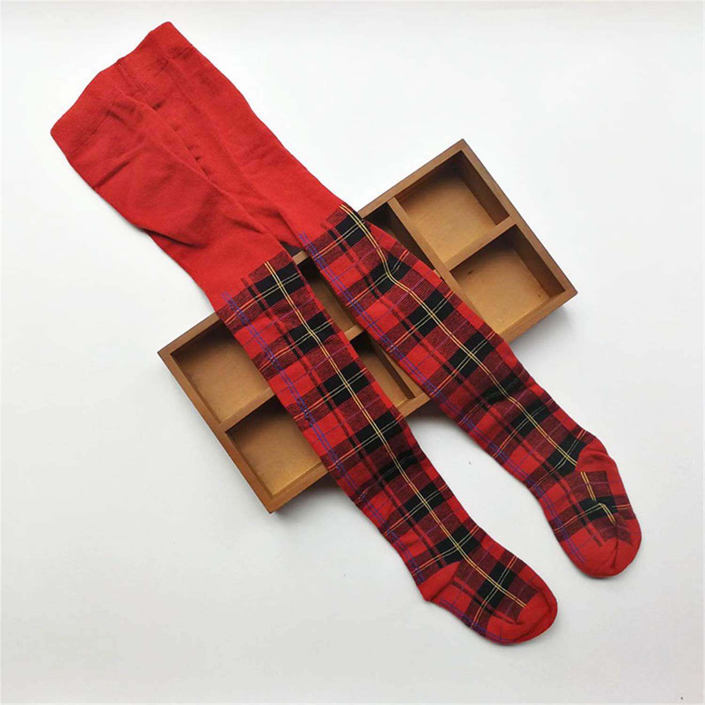 Baby Girls Plaid Tights Cotton Girls Knee High Socks Tights Baby Girl