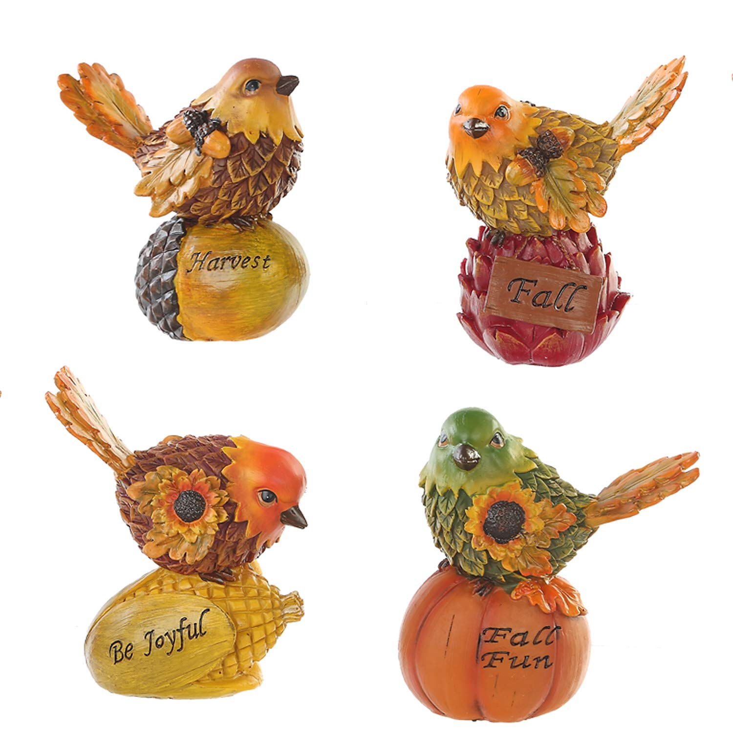 Goose Creek Acorn Bird Tabletop Figurines Cute Sparrow Fall Harvest Decorations,Set of 4 by Goose Creek
