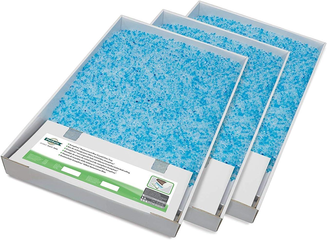 PetSafe PAC19-14264 Bandeja De Arena De Cristal Azul Scoopfree De Repuesto (3 Unidades)