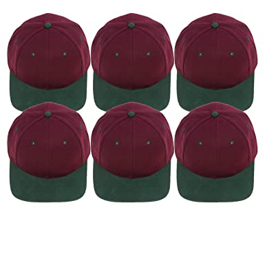 21f57243 48 Pack Wholesale Adjustable Baseball Caps in Red with Green Bill - Bulk  Case of 48