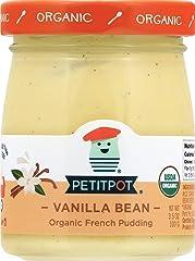 Petit Pot Vanilla French Pudding, Organic, 3.5 Oz