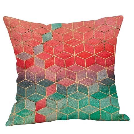 Kinlene Fundas de Almohada con Cojines de sofá de algodón de ...