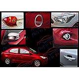 Auto Pearl - Premium Quality Chrome Plated Accessories For Ford Figo Aspire - Set Of 7 Pcs.