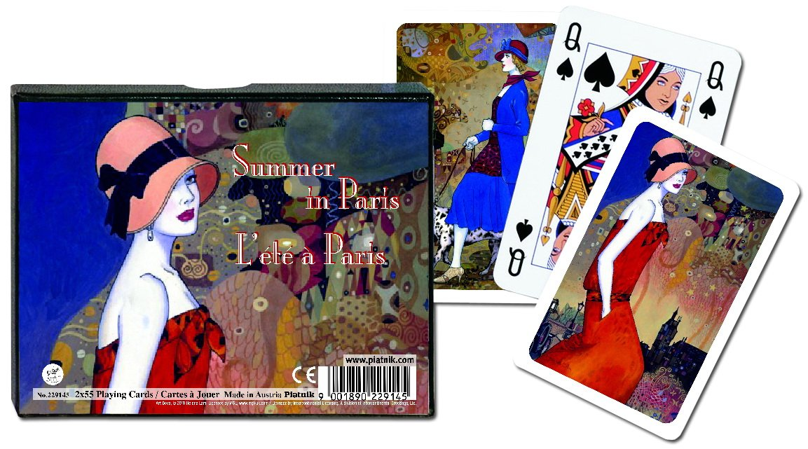 Piatnik Summer In Paris Bridge Playing Cards by Piatnik