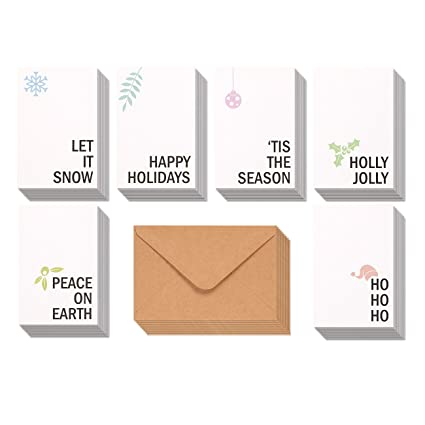 Amazon 48 pack merry christmas greeting cards bulk box set 48 pack merry christmas greeting cards bulk box set winter holiday xmas holiday greeting m4hsunfo