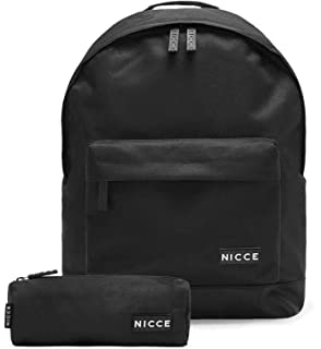 NICCE LONDON Andel Backpack and Free Pencil Case Black AW19 Schoolbag