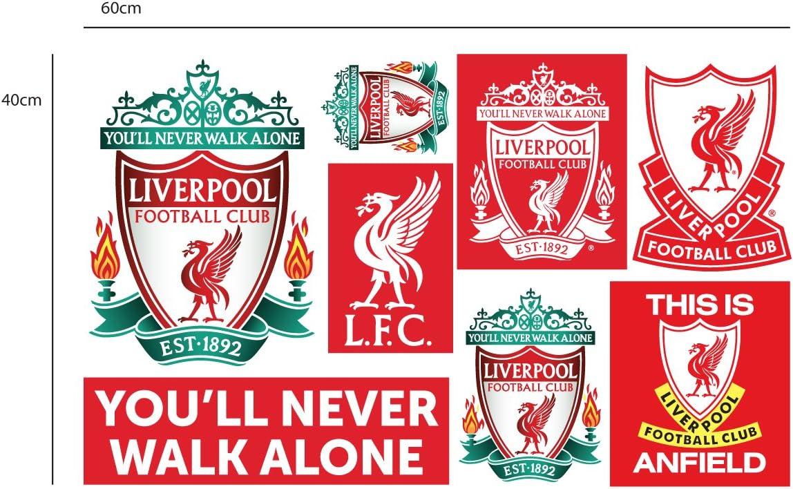 Officiel Liverpool Football Club Officiel LFC Foie Bird Crest Autocollant LFC Lot de Stickers en Vinyle Poster 60 cm