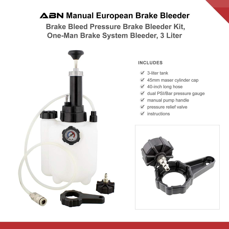 Abn Manual European Brake Bleeder 3 Liter Brake Bleed Pressure ...