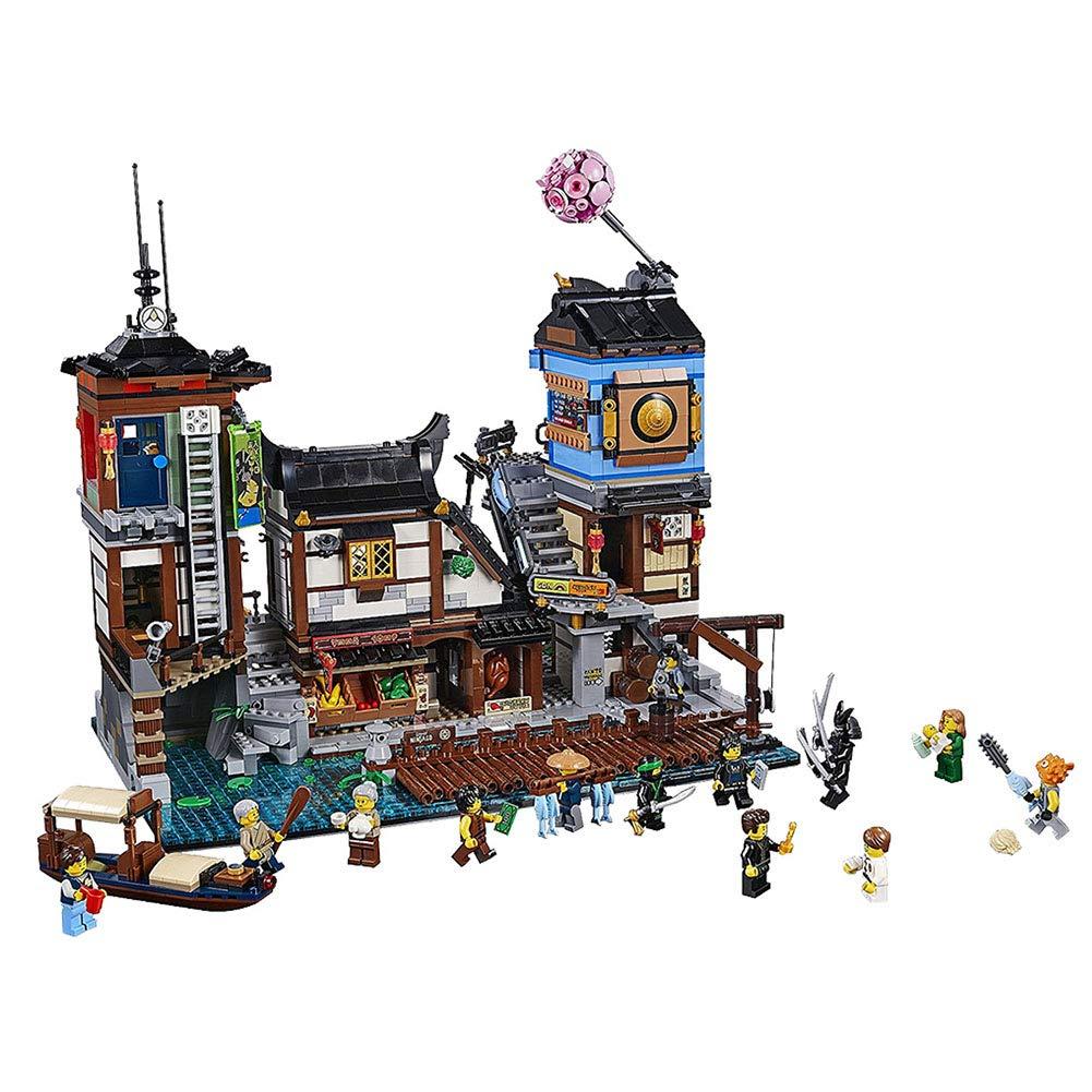 Amazon.com: FTOPS Building Kit 3979Pcs Ninja Pier Blocks Set ...