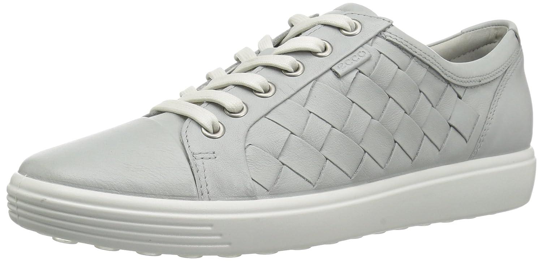 ECCO Women's Women's Soft 7 Woven Tie Fashion Sneaker B072HGSHTC 43 EU/12-12.5 M US|Concrete