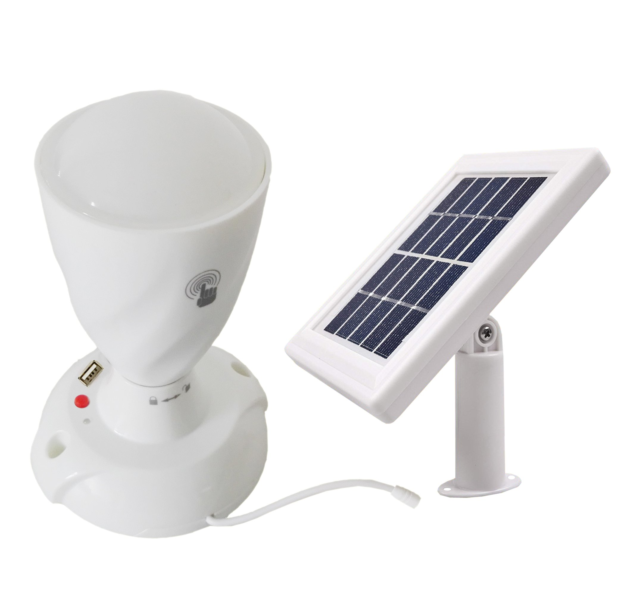 Solar Lighting System Kits Portable Finger Touch Switch 3 Power Modes Desk Lamp with USB Charger Solar Powered Led Torch/Shed Light/Wall Light/Ceiling Light Indoor