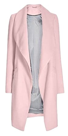b83c65e964fb Ex Next Pink Waterfall Longline Duster Coat Jacket Size 10 12 14 16 18 20 (