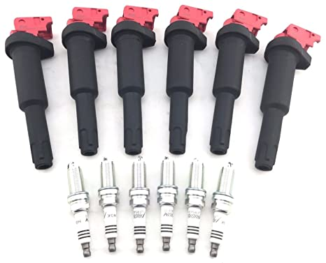 Amazon.com: 6 Ignition Coils for BMW 128 325i 328xi 330i 525i 528xi Z4 NGK & NGK Spark Plugs: Automotive