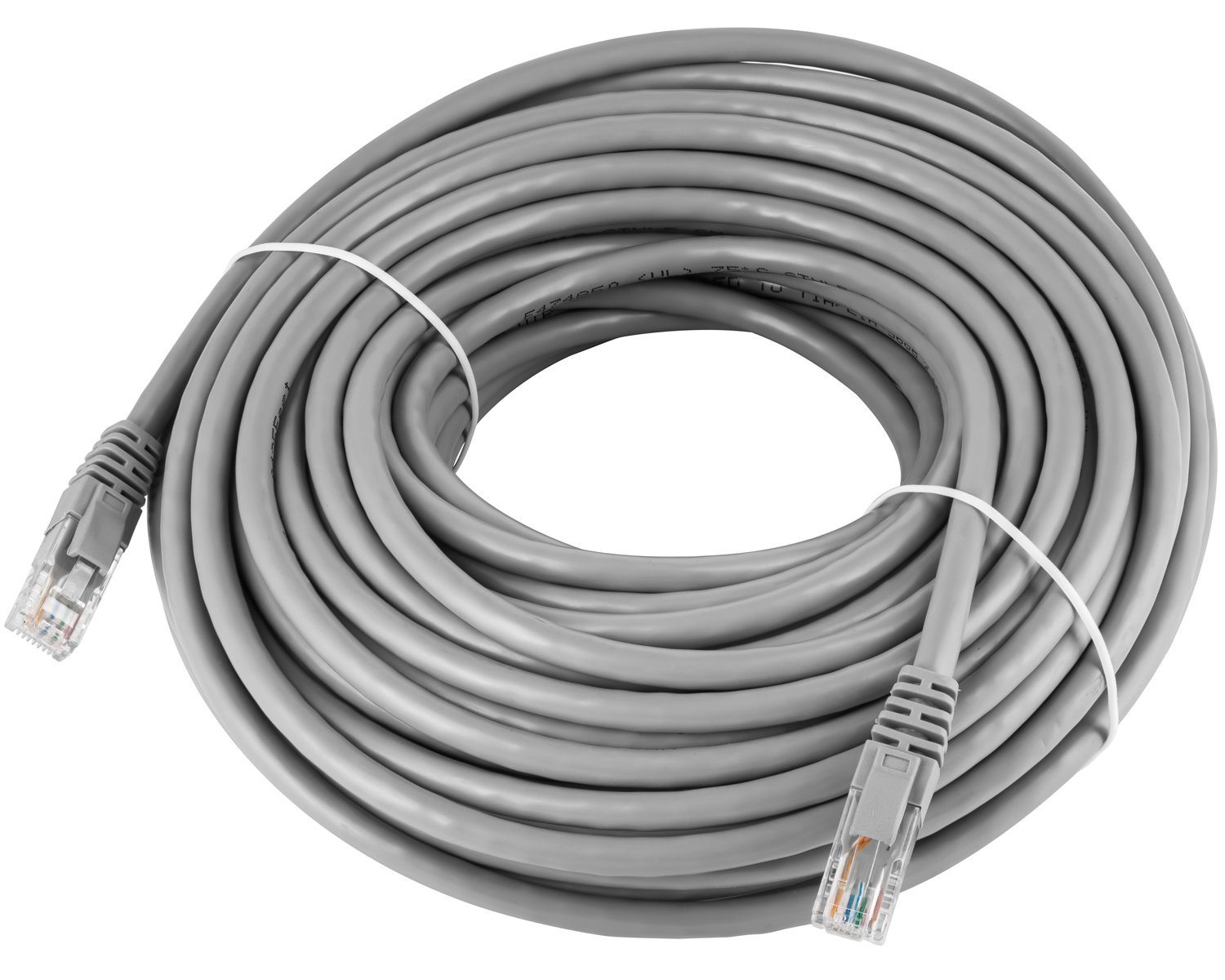Maximm Cat6 Snagless Ethernet Cable - 75 Feet - Gray - Pure Copper - UL Listed - Cable Ties Included by Maximm (Image #2)