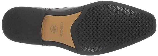 Geox U New Life D Scarpe con Fibbia, Uomo, Nero (Blackc9997