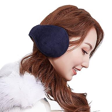 dae79cb083c Foldable Winter Earmuffs Men Women s Thermal Insulated Knitted Plush Furry Ear  Muffs Warmer Covers Anti-