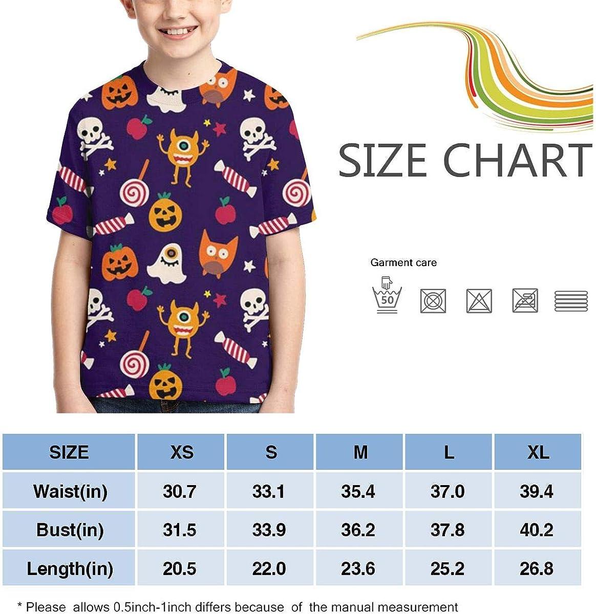 HHTZTCL Happy Halloween Boys Print Graphic Tee Short Sleeve T-Shirt