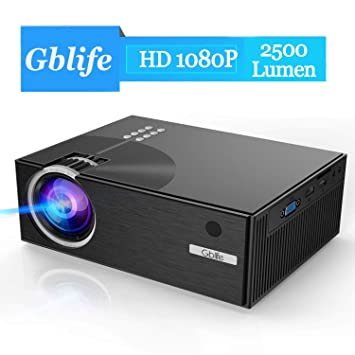 Mini Vidéoprojecteur Portable GBlife Rétroprojecteur 2500 Lumens Full HD  LED LCD Supporte 1080p Compatible PC, 75e1e69ebf88