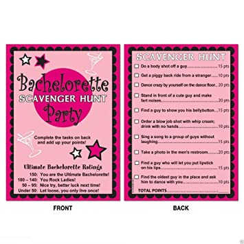 wedding bridal shower bachelorette party game activity scavenger hunt us top seller