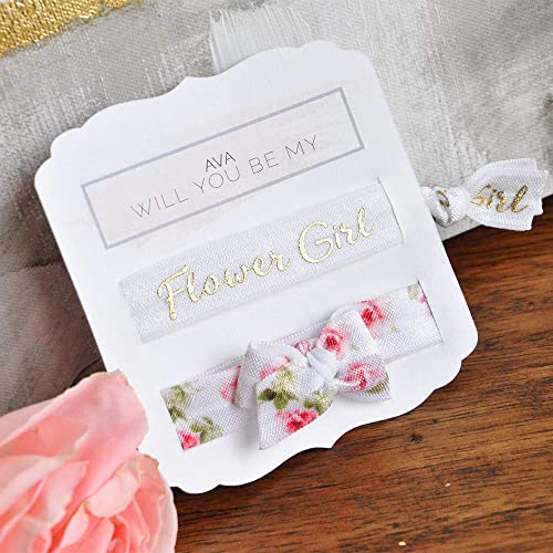 Amazoncom Flower Girl Hair Tie Flower Girl Proposal Ideas Flower
