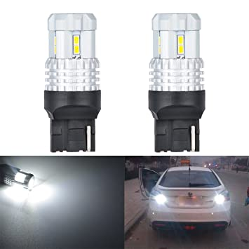 KaTur 7440 - Bombilla LED de Repuesto para Freno de Coche (2 Unidades, 2760