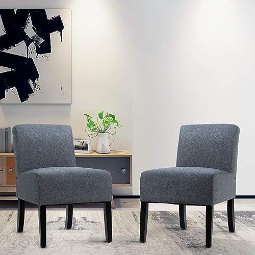 Giantex Fabric Accent Chair Set of 2 - a good cheap living room chair