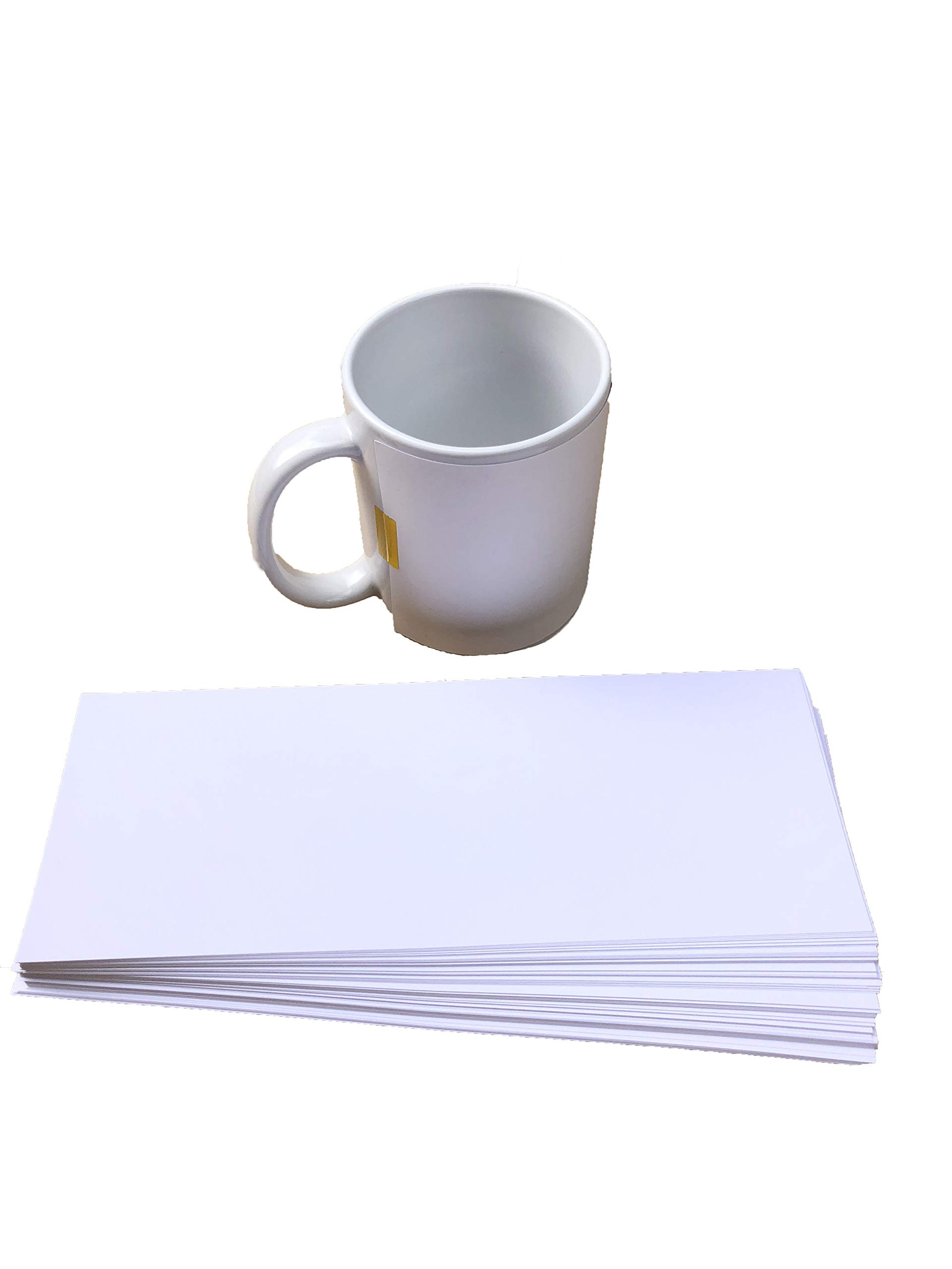 Alpha Print | Coffee Mug Sublimation Paper | 3.5'' x 9'' (11oz) | For Any Inkjet Printer with Sublimation Ink | 100 Sheets