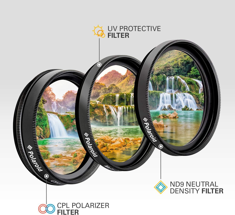Polaroid 3-picece Camera Lens Filter Kit Camera Filter Kit 72/mm Filter f/ür Kamera S 7,2/cm, Camera Filter Kit, 3/St/ück