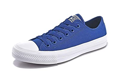 8bfd385665d2 Converse Unisex Low Top Chuck Taylor All Star II Canvas Shoes Sodalite Blue