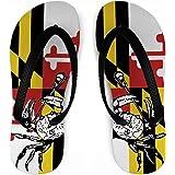 Guys Lacrosse Flip Flops Maryland Lacrosse