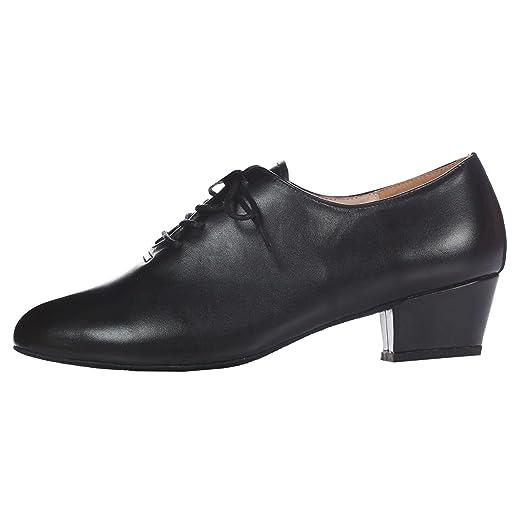 Men's Leather Ballroom Latin Salsa Dance Shoe Black 9.5 M US