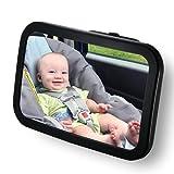 Espejo Retrovisor Coche de VicTsing para Vigilar al bebé en el coche, para los Asientos de Niños Orientados Hacia Atrás,100% inastillable