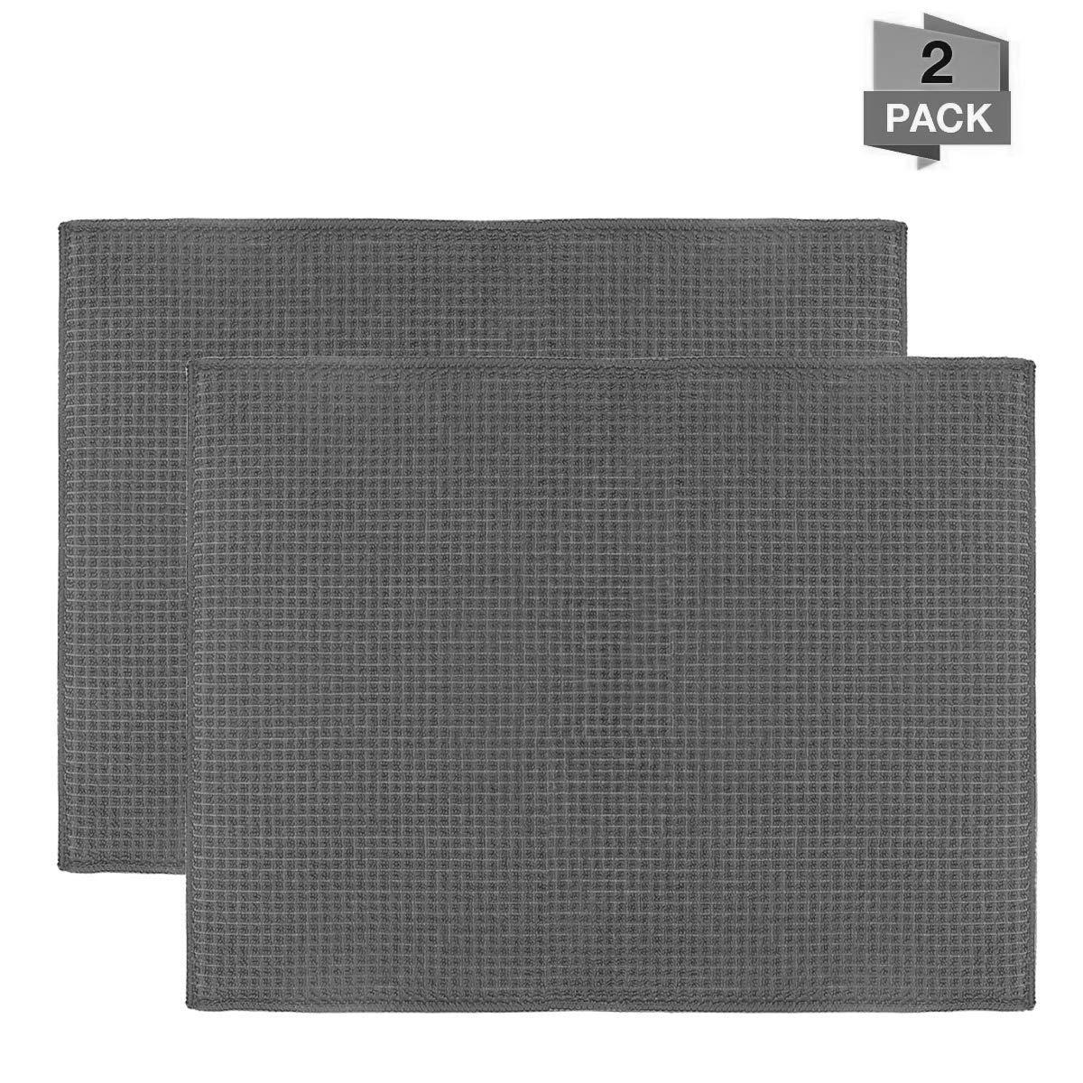 /égouttoir /à Vaisselle /à s/échage Rapide pour Cuisine Lavable en Machine 51 x 38 CM Accessoires de Table ULABLE Lot de 2 Tapis de s/échage en Microfibre comptoir