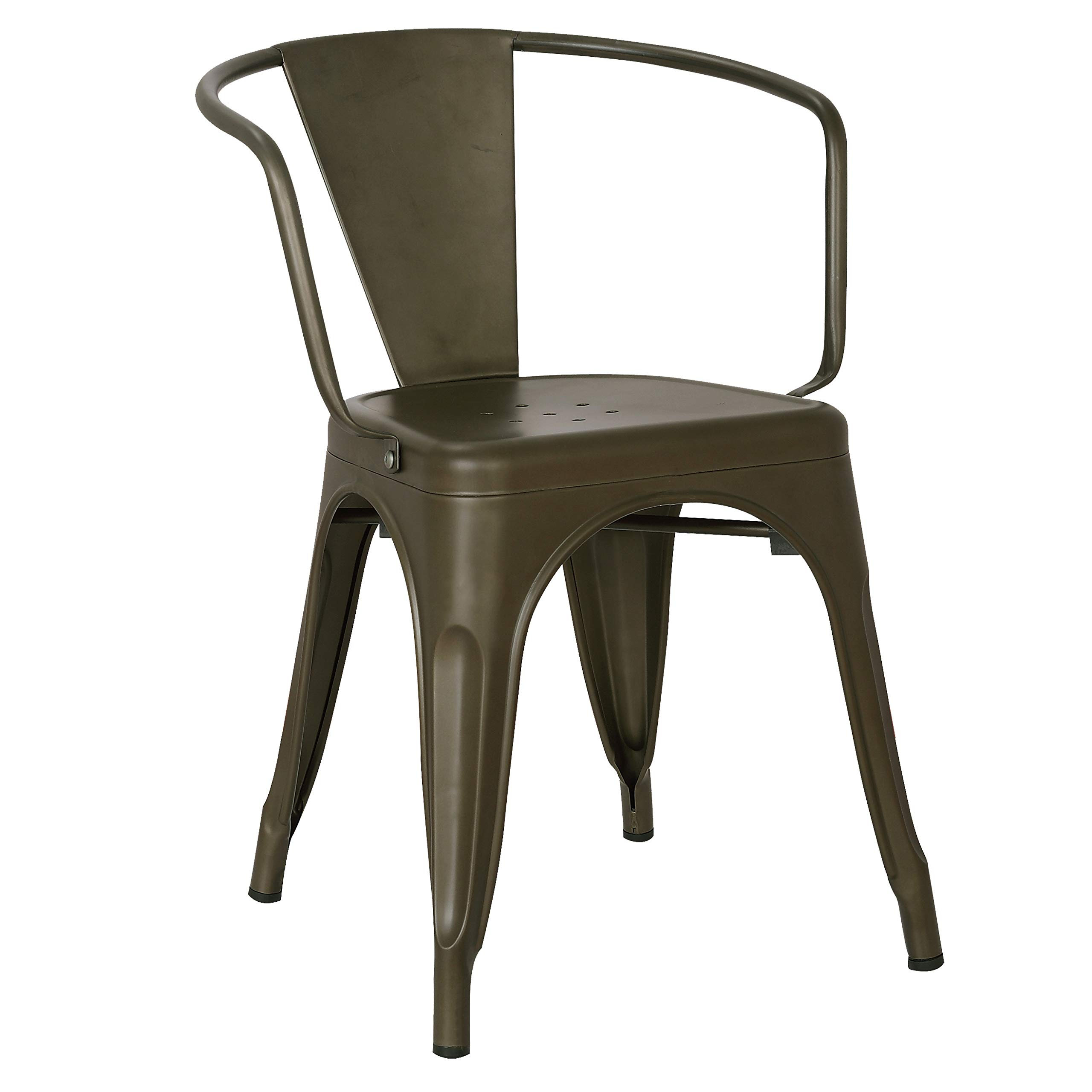 Poly and Bark Trattoria Arm Chair in Bronze (Set of 4) by POLY & BARK (Image #2)