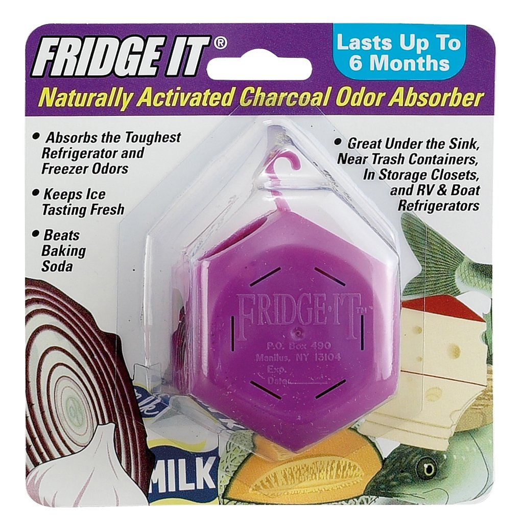 Innofresh Fridge-It Cube - Activated Charcoal Odor Absorber. The Natural Fridge Deodorizer and Air Freshener. Fragrance Free, Lasts up to 6-Months