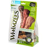 Whimzees Natural Grain Free Dental Dog Treats, Small Brushzees, Bag of 24