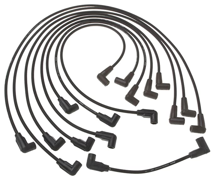 amazon acdelco 9718d professional spark plug wire set automotive 89 chevy  truck tbi wiring harness schematic