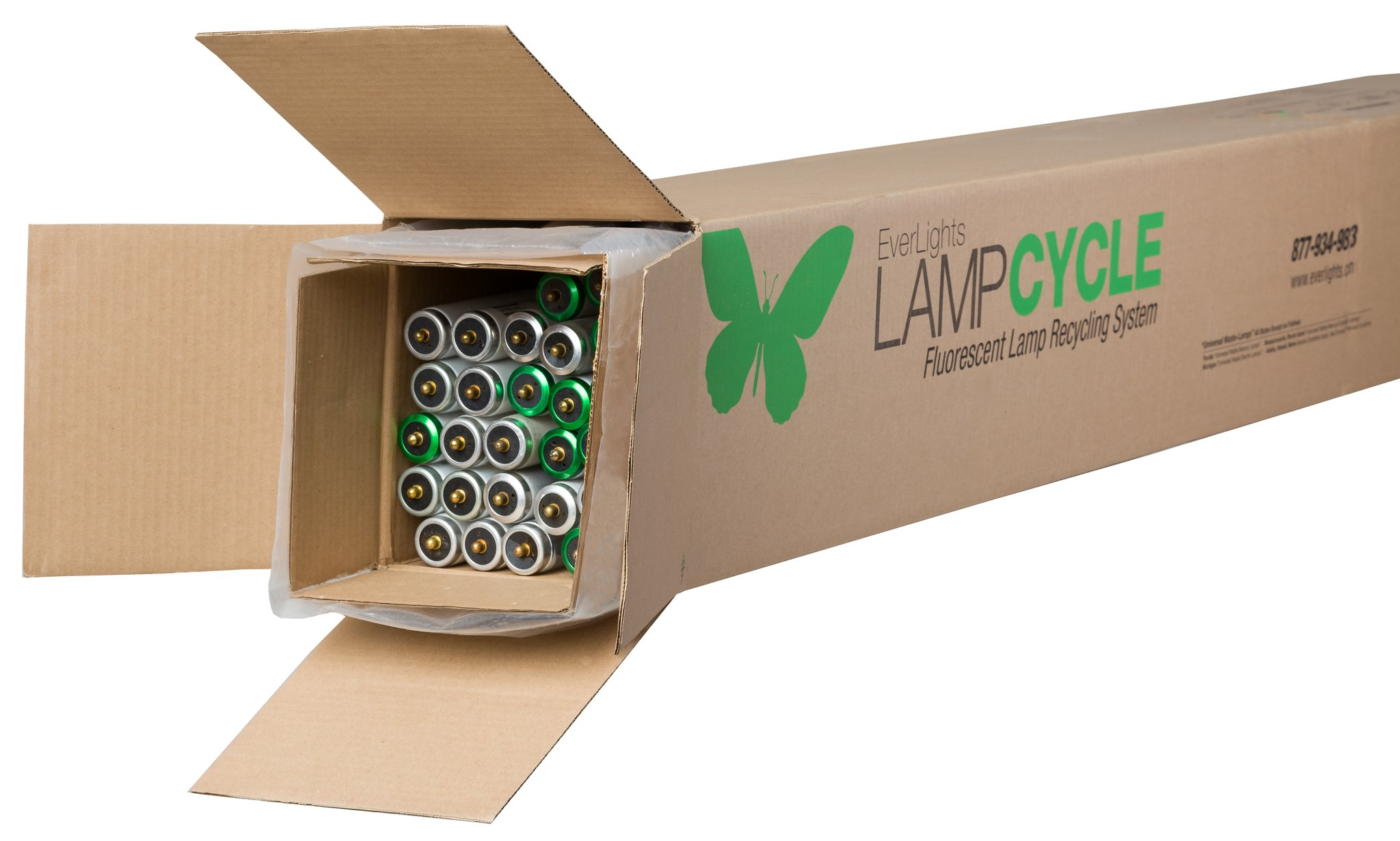 EverLights R8T836 LampCycle 8-Foot Linear Fluorescent Tube Recycling Kit, Extra-Large