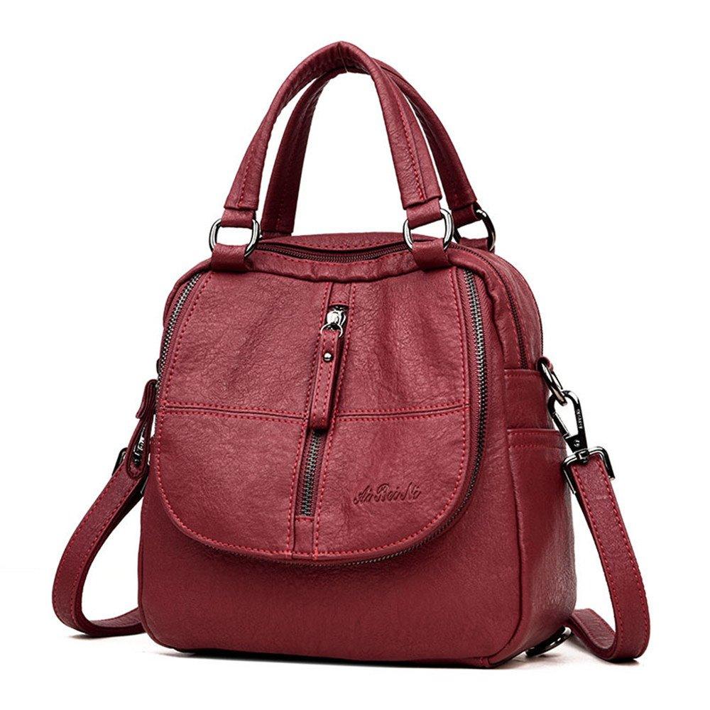Women Backpack Handbags, YIMOJI Fashion Vintage PU Leather Casual Daypack Small Travel School Bags for Women Girls