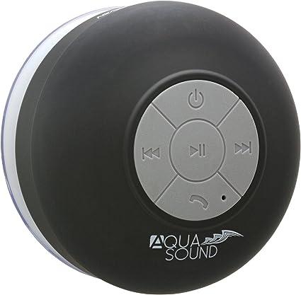 Aduro AquaSound WSP8 Shower Speaker, Portable Waterproof Wireless  Bluetooth Speaker (Black)