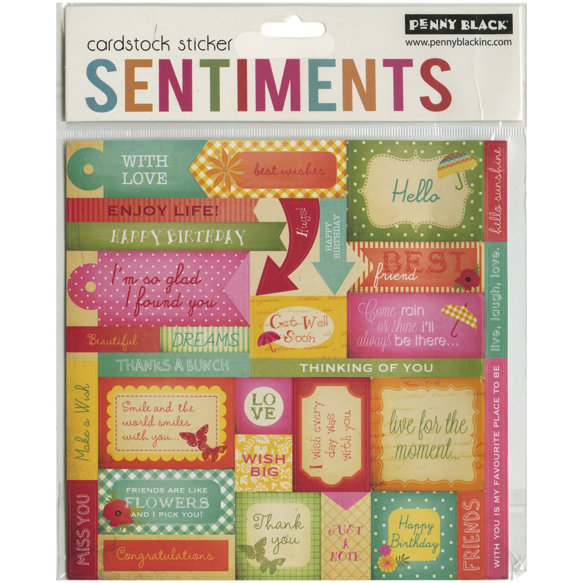 期間限定特別価格 Penny Black Stickers, Stickers, Sentiments by by Penny Black B00USBEZT8 B00USBEZT8, ナガヌママチ:0ac90a98 --- mvd.ee
