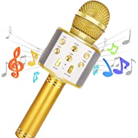 Karaoke Microphone Wireless Bluetooth Remix 5 in 1 Portable Speaker Machine for Kids Party Home KTV with record function…