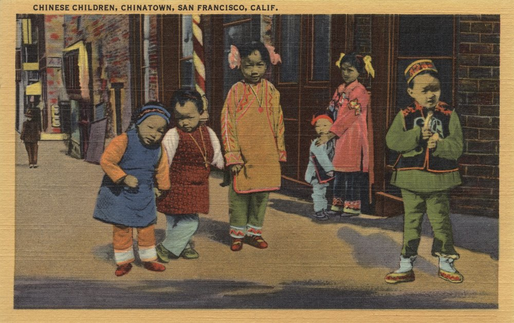 中国Children inチャイナタウン – San Francisco , CA 12 x 18 Art Print LANT-6081-12x18 B017Z0UX3Q 12 x 18 Art Print