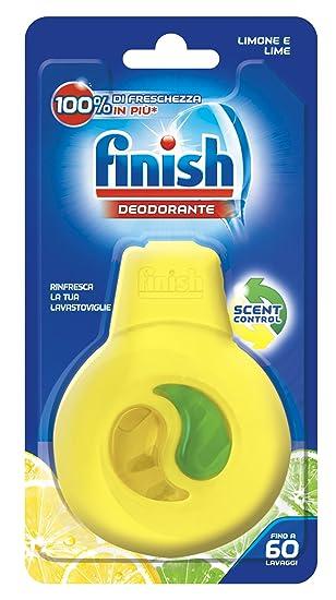 Finish - 4 ambientadores para lavavajillas, aroma de limón: Amazon ...
