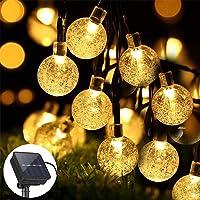 ZWOOS Guirnalda Luces Exterior Solare, 7m 50 LED Luces de Cadena de Bola de Cristal Impermeable con 8 Modos para Navidad…
