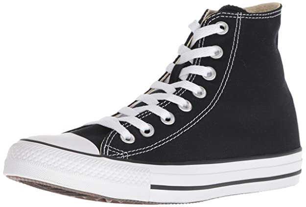 Converse Womens All Star High Canvas Hight Top Lace Up Fashion, Black, Size 6.0