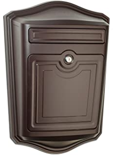 mailboxes 2540rz maison locking wall mount mailbox oil rubbed bronze - Wall Mount Mailboxes