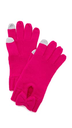 108b6eda6 Kate Spade New York Women's Gathered Bow Gloves, Sweetheart Pink, One Size